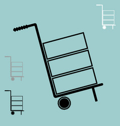 Cart for delivery of goods vector