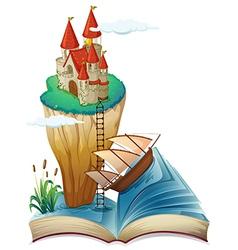 Castle fantasy story book vector
