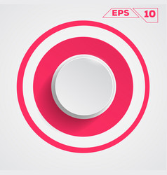 circle button icon vector image vector image