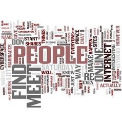 Find and meet people text background word cloud vector