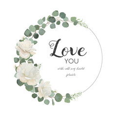 Floral design card with white rose cute flower vector