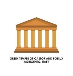 Greek temple icon Italy culture design vector image