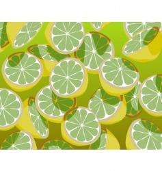 green lemons vector image