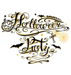 Halloween Party lettering vector image vector image