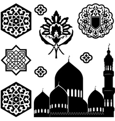 Islamic ornaments vector image