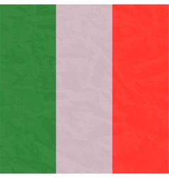 Italian flag painted by brush hand paints Art vector image vector image