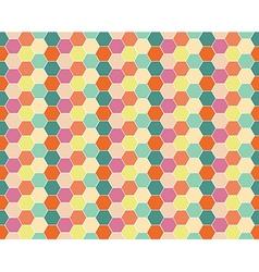 Multicolored hexagon geometric seamless background vector