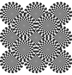 Optical deception vector image
