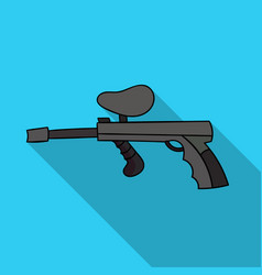 Paintball gun icon in outline style isolated on vector