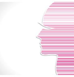 pink strip women face vector image