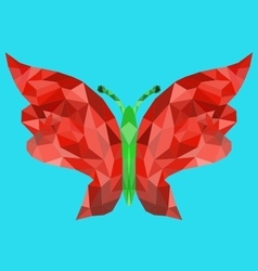 Polygon butterfly image vector
