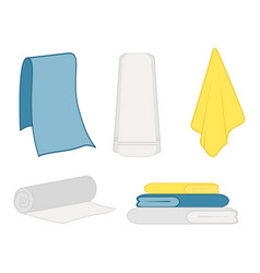 Set of clean towel vector