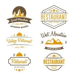 Set of different logo label emblem badge and vector