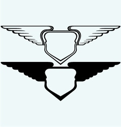 Shield with wings vector image
