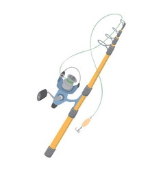 spinning rod vector image