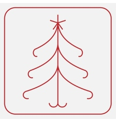 Stylized red Christmas tree with star vector image