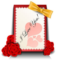 Valentine card with rose vector image vector image