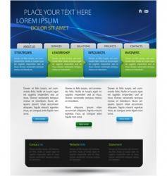 web page design vector image vector image