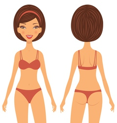 Woman front and back vector image vector image