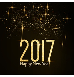 Happy new year 2017 gold glitter vector
