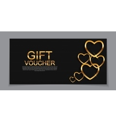 Gift voucher template for valentines day discount vector