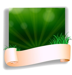 An empty template in front of the green grass vector