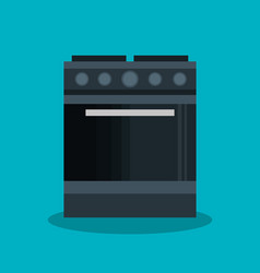 Home appliance oven isolated icon vector