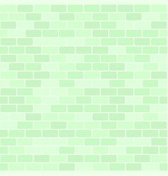 Green brick wall pattern seamless brick vector