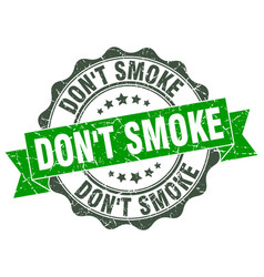 Dont smoke stamp sign seal vector
