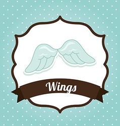 Wings design vector
