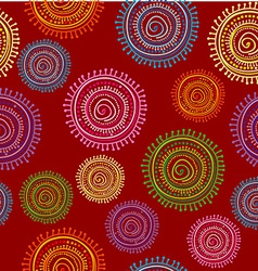 Ethnic seamless pattern in bright color with vector