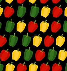 Background of sweet pepper seamless pattern of vector