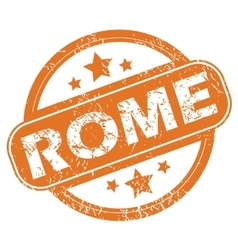 Rome round stamp vector