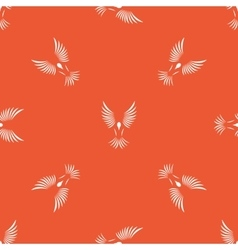Orange flying bird pattern vector