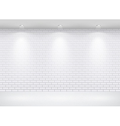 gallery brick wall vector image