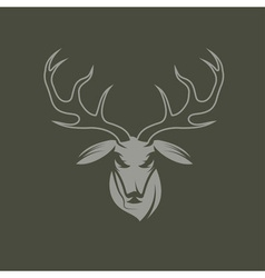 Deer head design template vector