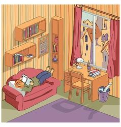 Interior apartment vector