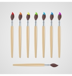Paint brushes set vector image