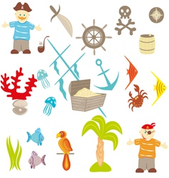 piracy set vector image