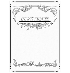 Floral patterns the certificate vector
