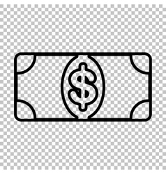 Bank note dollar sign vector