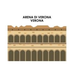 Arena di verona icon italy culture design vector