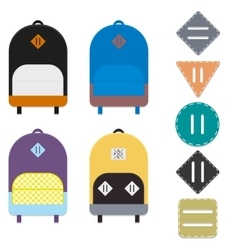 Backpacks and lash tabs vector