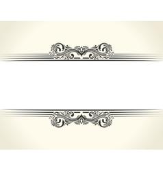 Banner islam ethnic design white invitation vector