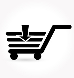 black simple shopping icon vector image vector image
