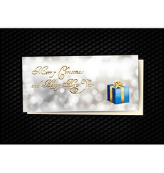 Blue Gift Card vector image vector image