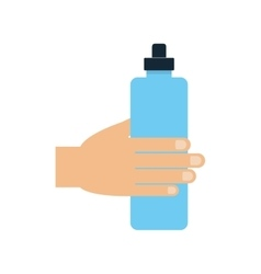 Bottle water sport fitness gym icon vector