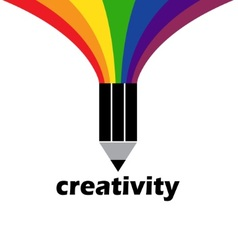 drawing creativity and inspiration vector image