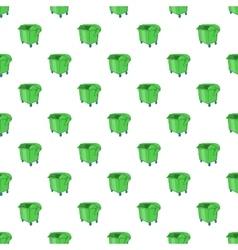 Dumpster pattern cartoon style vector