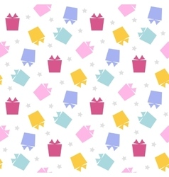 Gift icon simple pattern vector image
